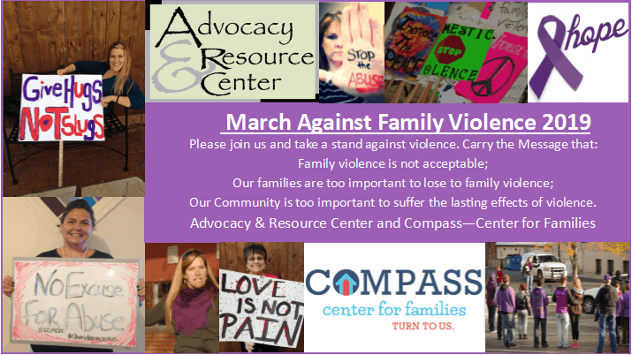 Domestic Violence Awareness, Advocacy & Resource Center, SheridanWY, hope, march against violence, domestic violence, awareness, hope, purple ribbon